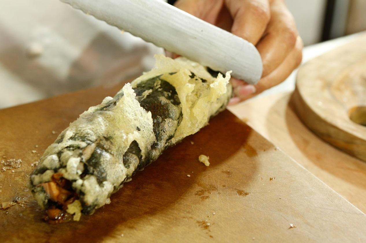 Zalm tonijn tempura maken